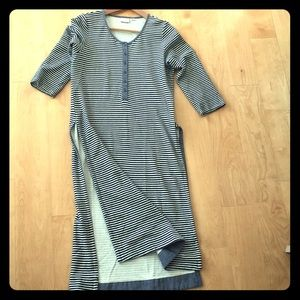 Long striped soft cotton tunic from Anthropologie